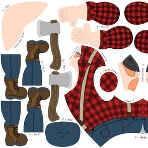 Ziggy Sawdust the Lumberjack - Red