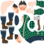 Ziggy Sawdust the Lumberjack - Green