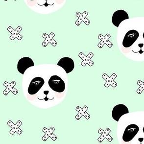 panda blush mint