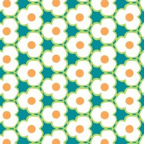 White Flowers with Orange Centers for Mermaids