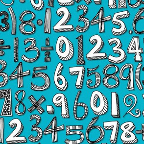 math doodle blue