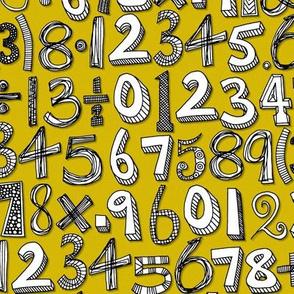 math doodle yellow