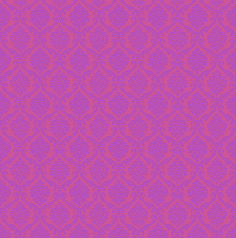 damask - purple on pink