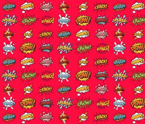 Comic Book Rumble Poof, Wham, Splash, Boing, Pow, Zap, Crash, Ooops, Smack, Bang, Crack, Wow