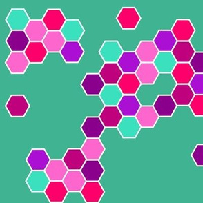 hexagon_petrol_orange_pink