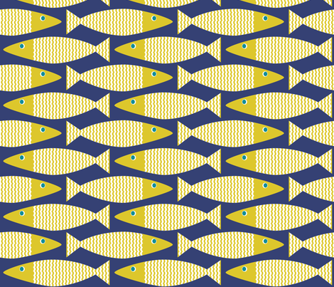 Wavy Bass navy citron
