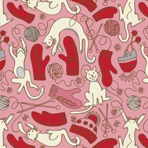 Kittens Knitten Mittens