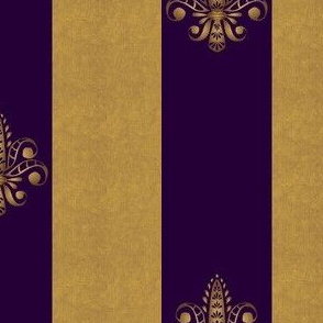 gold_and_royal amethyst_fleur_de_lis_2_inch_wide_dblspc offset