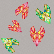 Gemstone Hearts inGrayspace