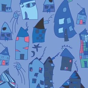 Elas blue Houses