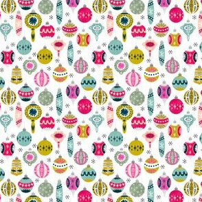 Christmas Ornaments - White background