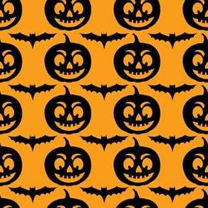 Cute Halloween Bats & Jack-O-Lanterns
