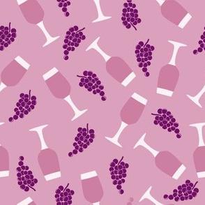 Rosé Wine Scattered