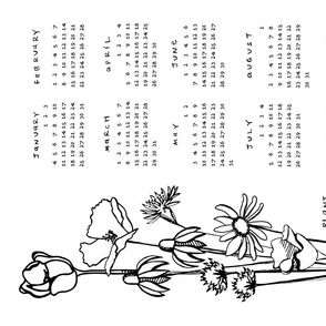 2015 Floral Tea Towel Calendar - Plant & Grow