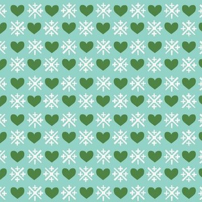 Snowflakes and Hearts