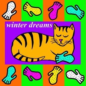 Kitten's Winter Dreams