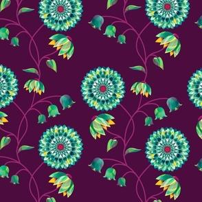 Glass Blossoms Violet: Bloom