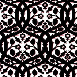 Pomegranate Briar Damask