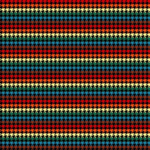 "Houndstooth - Chocolate Rainbow 1/2"" on Black"