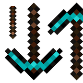 8-bit Pillow Plushie Pickaxes
