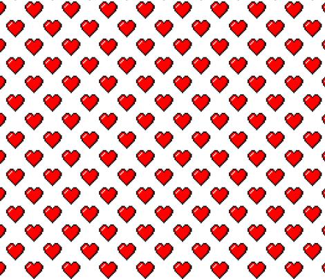 "Pixel Hearts - 1/2"""