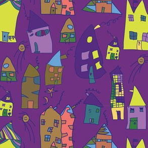 Elas Houses purple lime