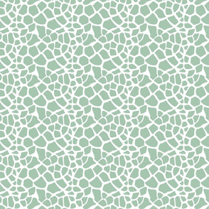 Mint and White Giraffe Print