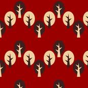 Geometric tree chevron red