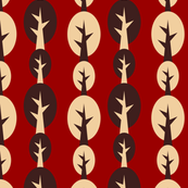 geometric tree vertical red
