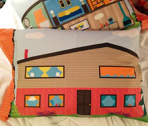 Cut & Sew Mid-Century Modern Dollhouse