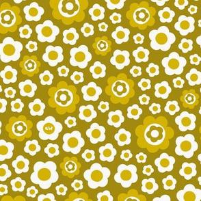 Vintage Floral - Mustard