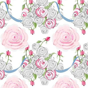 Shabby_Chic_Rose_Bouquest_and_blue_ribbons