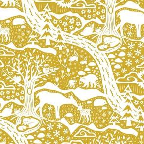 Woodland Spring - Gold