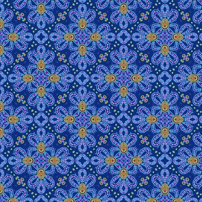 Tile Knot Revisted in Blue