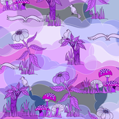 Purple Dinosaur World.