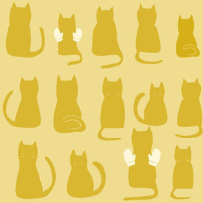 Cats Making Jazz Hands - Yellow