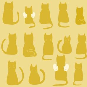 Cats Making Jazz Hands - Yellow