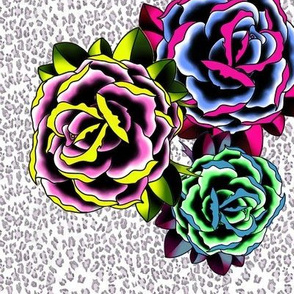 rockabilly roses large