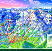 Whitefish Mountain Ski Resort Map