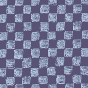 sketched checkerboard in autumn blues