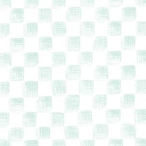 pale blue sketched checkerboard