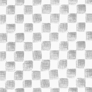 grey and white sketched checkerboard