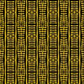 Tribal Cloth Gold Black