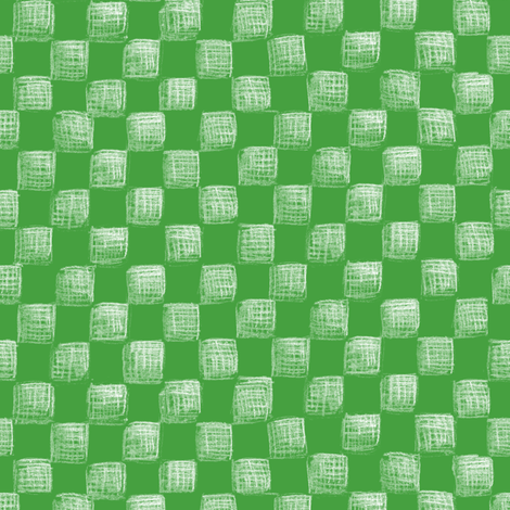 Christmas green sketched checkerboard