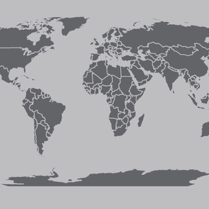 Dark gray light gray world map