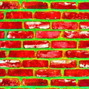 Magical Brick Road Red n Lime Grinchy