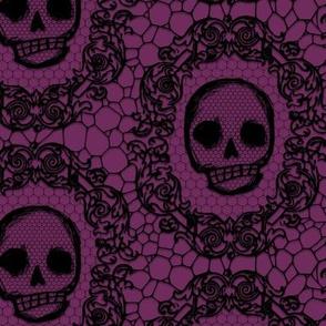 Skull Lace - wine