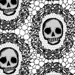 Skull Lace - white