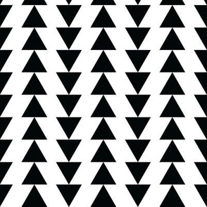 Black and White Reverse Triangle Arrows