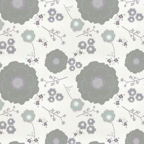 Grey Morning Blooms
